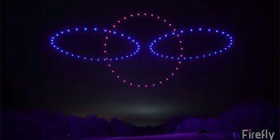This Synchronized Light Show Using 100 Choreographed Drones is Incredible