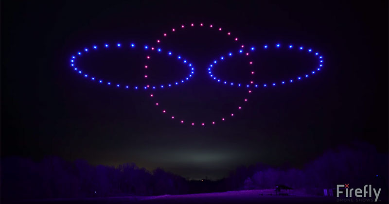 This Synchronized Light Show Using 100 Choreographed Drones isIncredible