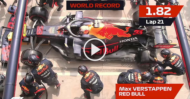Team Red Bull Breaks Pit Stop World Record for Third Time ThisSeason