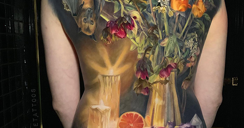 This Full Back Piece by Makkala Rose is aMasterpiece