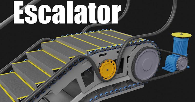 This 3D Animation Elegantly Explains How An EscalatorWorks