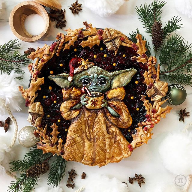 baby yoda raspberry pie by thepieous 2 Baby Yoda Raspberry Pie