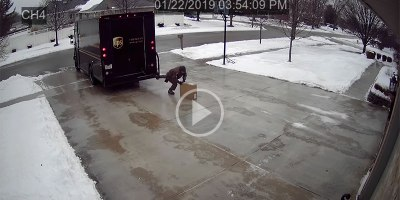 A Security Cam Captured the Greatest Delivery Attempt of AllTime