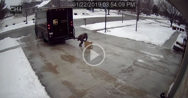 A Security Cam Captured the Greatest Delivery Attempt of All Time