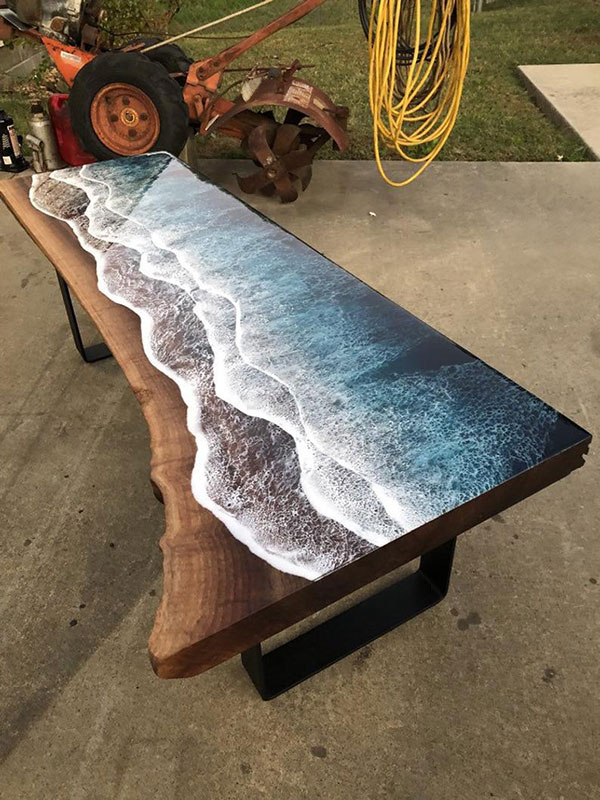 live edge ocean surface tables by rivka wilkins and jared davis 18 These Live Edge Ocean Shore Coffee Tables are Incredible (18 Pics)