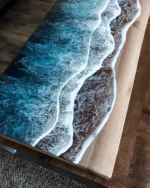live edge ocean surface tables by rivka wilkins and jared davis 5 These Live Edge Ocean Shore Coffee Tables are Incredible (18 Pics)