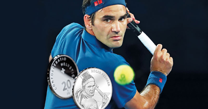 Roger Federer Becomes First Ever Living Person Celebrated on Swiss Coins