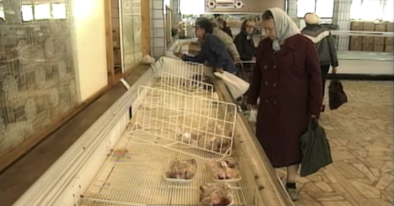 Raw Footage from 1990 of a USSR Grocery Store in Moscow