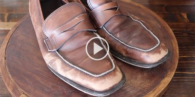 Cobbler Masterfully Restores the Most Beat Up Ferragamo Loafers You've EverSeen