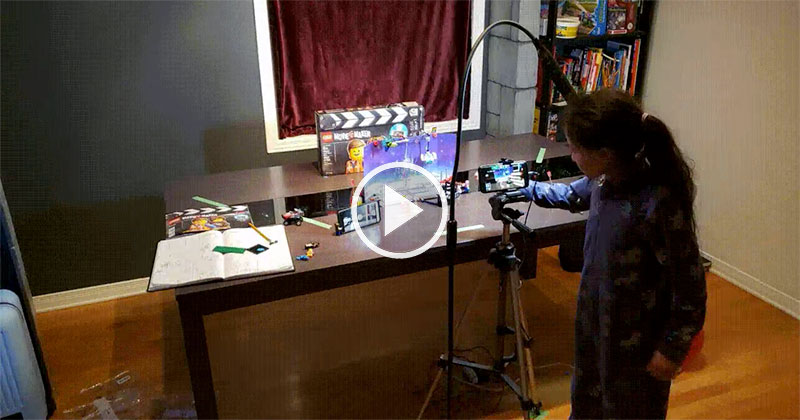 Proud Papa Takes Timelapse of His Daughter Making Her First Stop Motion Film