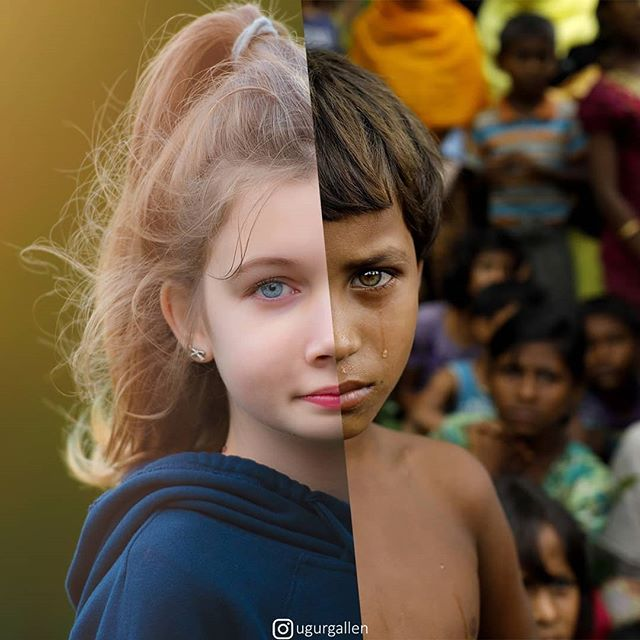 jarring photo collages of people that live completely different lives ugur gallenkus 7 25 Jarring Photo Collages of People That Live Completely Different Lives