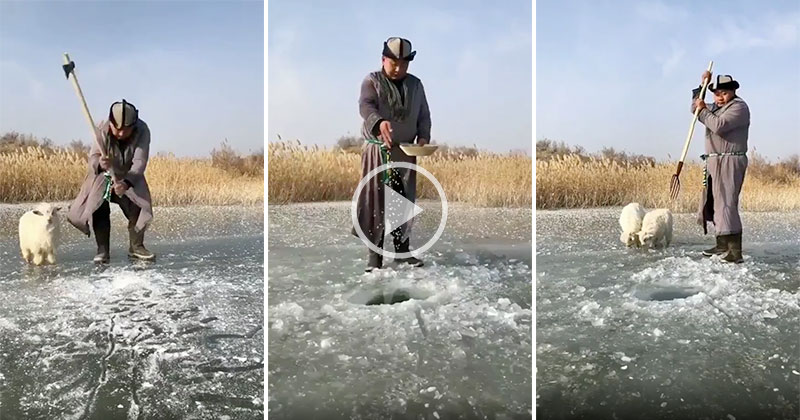 The Way This Guy is Fishing is Fascinating
