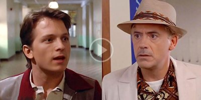 Back to the Future, Only It's Tom Holland and Robert Downey Jr