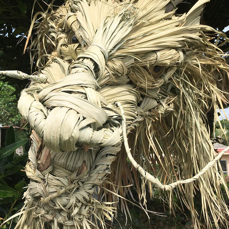 dragon made from palm tree leaves japan by ayako 2 This Awesome Dragon Made From Palm Tree Leaves (5 Photos)