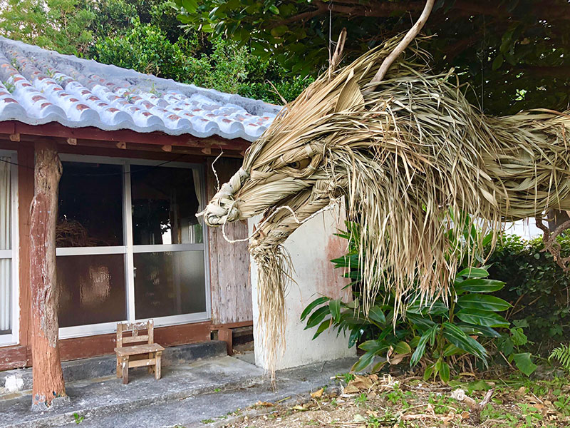dragon made from palm tree leaves japan by ayako 6 This Awesome Dragon Made From Palm Tree Leaves (5 Photos)