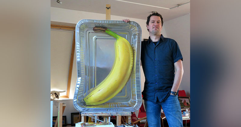 This Oil Painting on a Flat (but Not Rectangular) Panel is Bananas
