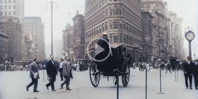 New York City in 1911, Upscaled to 4K 60fps with Sound and ColorAdded