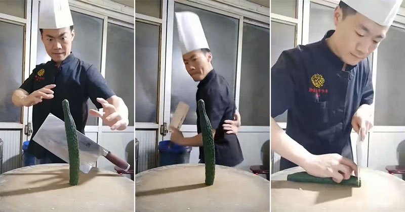 Now THAT is what you call a chef! (watch to theend)