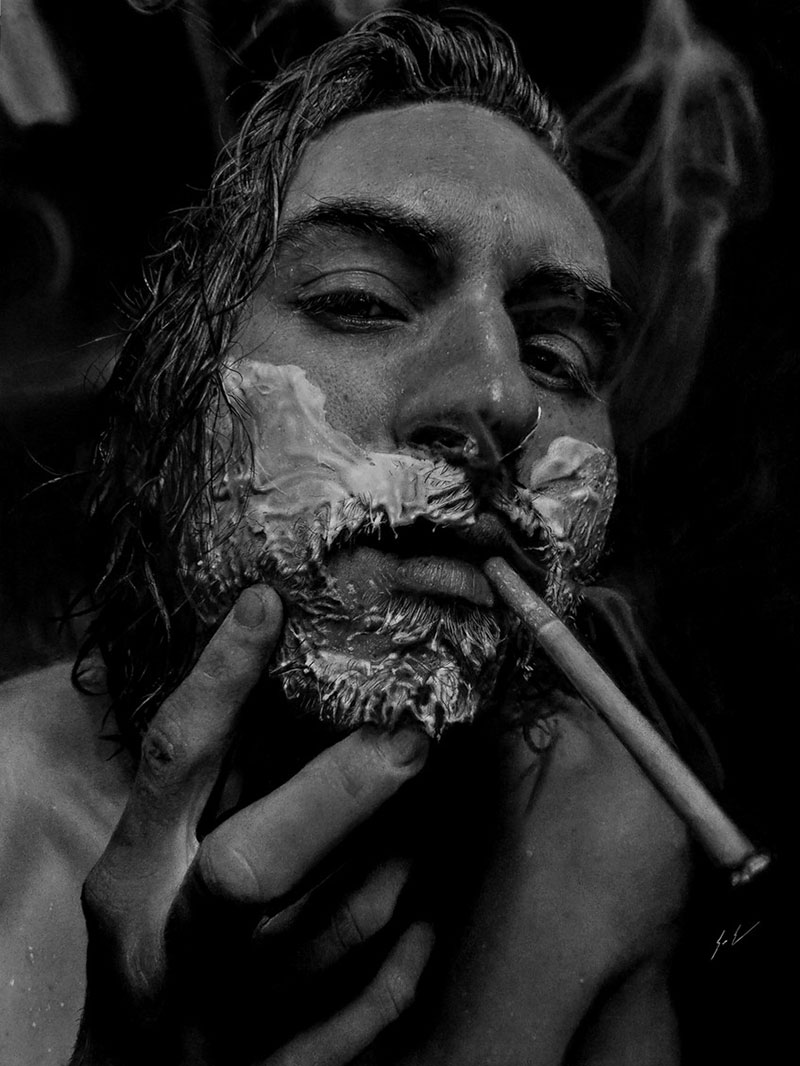 hyperrealistic charcoal portraits by dylan eakin 11 These Hyperrealistic Charcoal Portraits by Dylan Eakin are Incredible