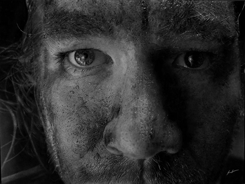 hyperrealistic charcoal portraits by dylan eakin 5 These Hyperrealistic Charcoal Portraits by Dylan Eakin are Incredible