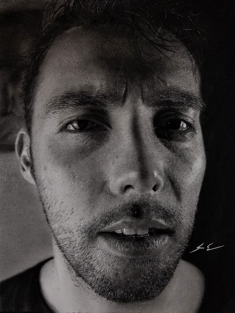 hyperrealistic charcoal portraits by dylan eakin 7 These Hyperrealistic Charcoal Portraits by Dylan Eakin are Incredible