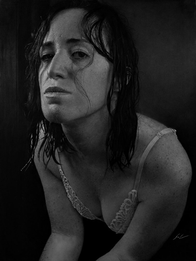 hyperrealistic charcoal portraits by dylan eakin 8 These Hyperrealistic Charcoal Portraits by Dylan Eakin are Incredible
