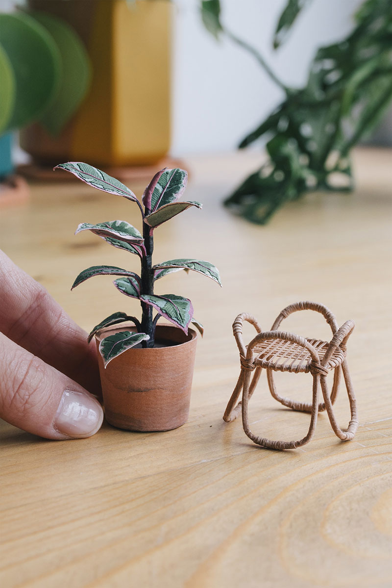 miniature paper potted plants by raya sader bujana 15 These Miniature Potted Plants Made from Paper are Just Adorable