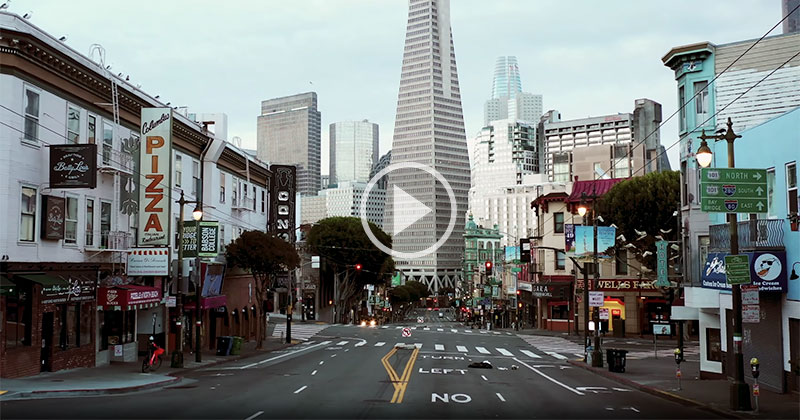 This Drone Tour of San Francisco Under Quarantine is So Surreal