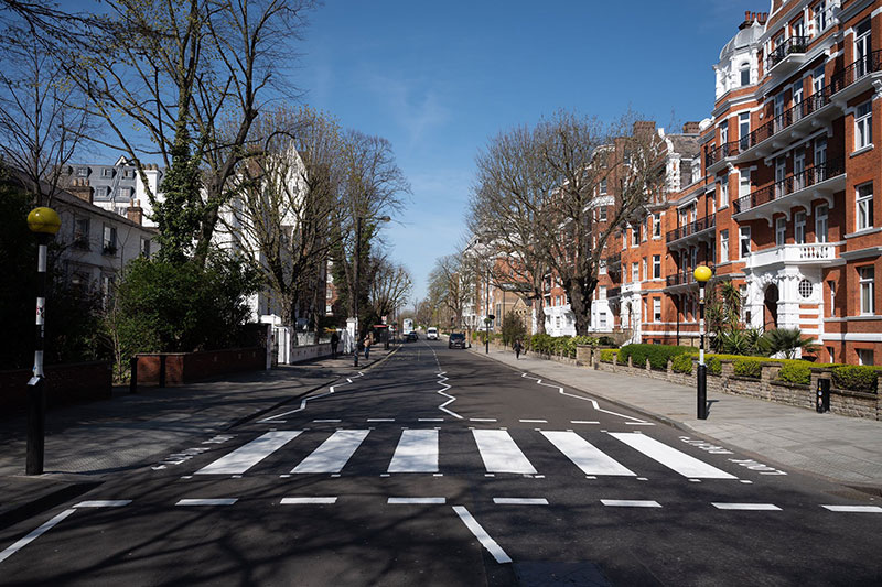 abbey road gets repainted 4 Lockdown in London Lets Abbey Road Get a Fresh Coat of Paint