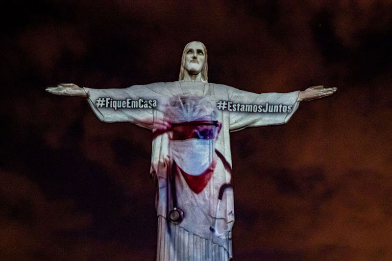 brazil thanks medical workers with powerful easter sunday tribute 1 Brazil Thanks Medical Workers with Powerful Easter Sunday Tribute