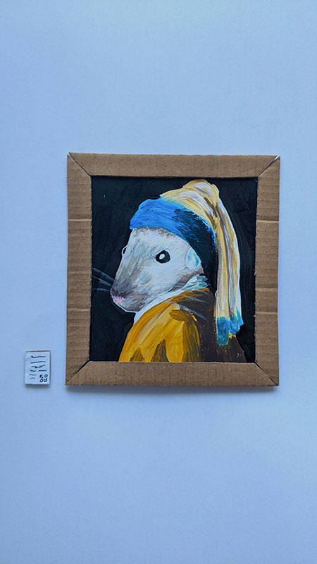 couple makes miniature art museum for their gerbils 7 This Couple Made a Miniature Art Museum for their Gerbils and its the Best