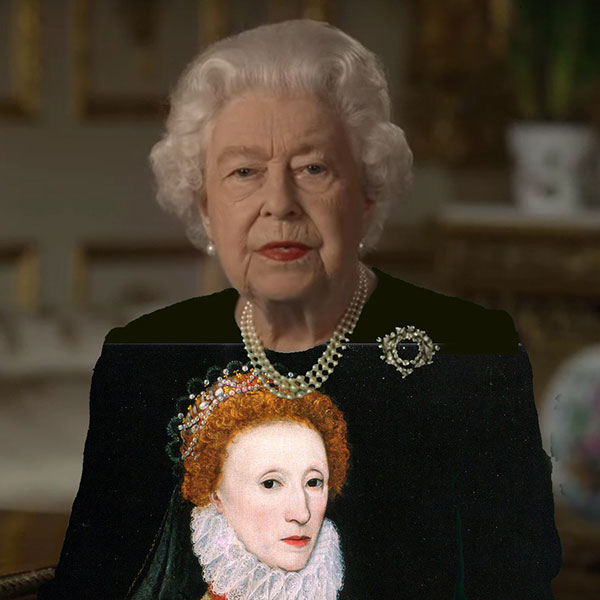 green screen queen photoshop green top 14 The Queen Wore Another Green Screen Outfit and the Internet Rejoiced