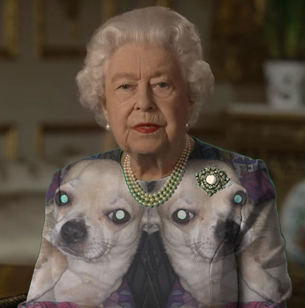 green screen queen photoshop green top 15 The Queen Wore Another Green Screen Outfit and the Internet Rejoiced