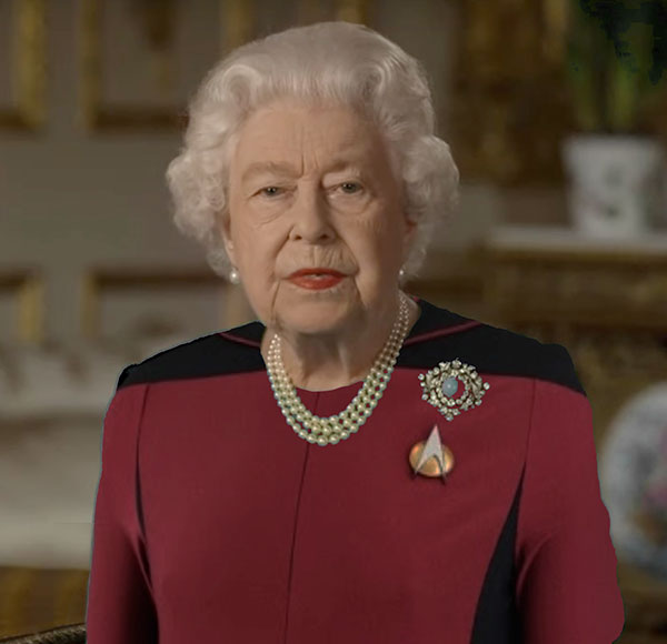 green screen queen photoshop green top 16 The Queen Wore Another Green Screen Outfit and the Internet Rejoiced