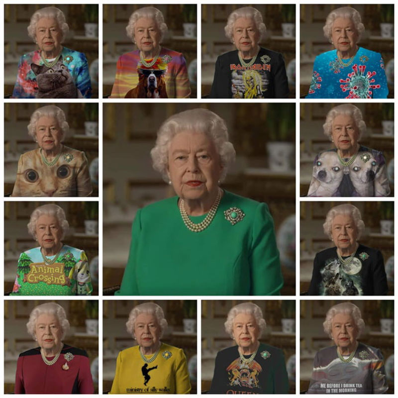 green screen queen photoshop green top 2 The Queen Wore Another Green Screen Outfit and the Internet Rejoiced