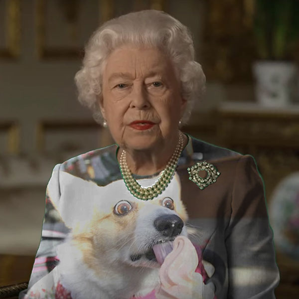 green screen queen photoshop green top 23 The Queen Wore Another Green Screen Outfit and the Internet Rejoiced