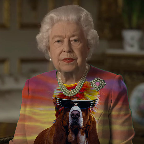 green screen queen photoshop green top 6 The Queen Wore Another Green Screen Outfit and the Internet Rejoiced