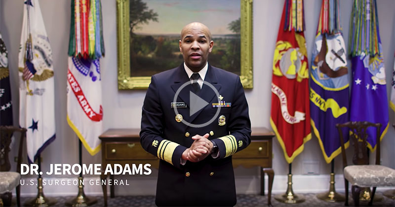 US Surgeon General Dr. Jerome Adams on How to Make a Basic DIY Face Mask