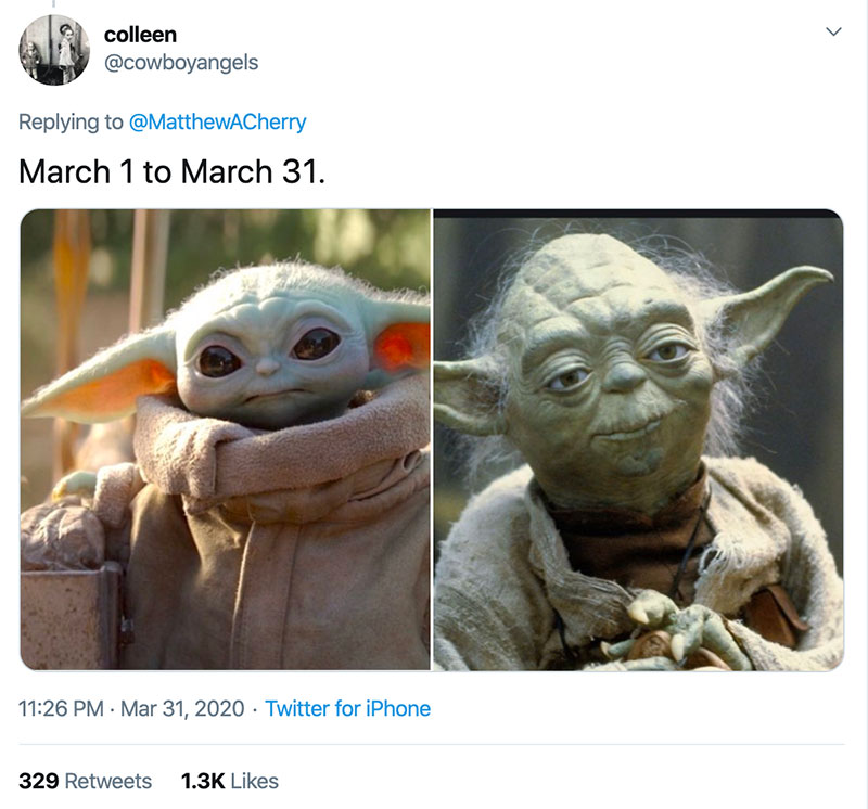 "march 1 vs march 31 april 1 meme best of 24 These ""March 1 vs April 1"" Posts Perfectly Capture How Intense the Last Month Was"