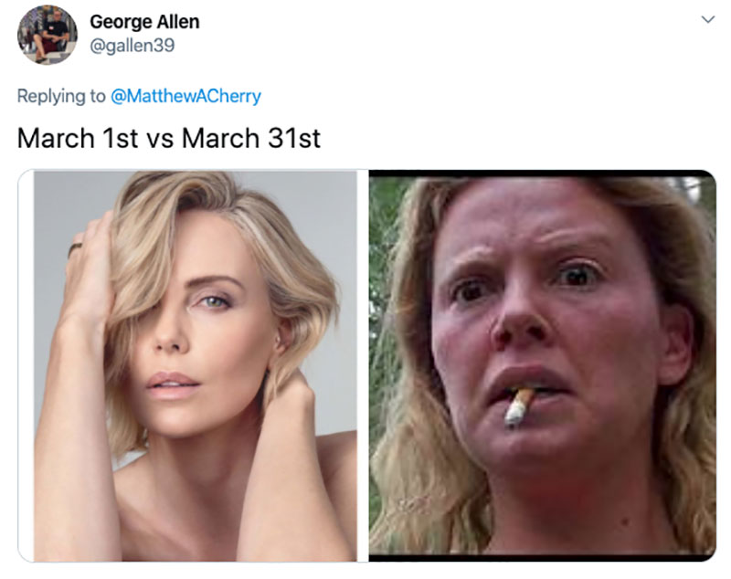 "march 1 vs march 31 april 1 meme best of 43 These ""March 1 vs April 1"" Posts Perfectly Capture How Intense the Last Month Was"