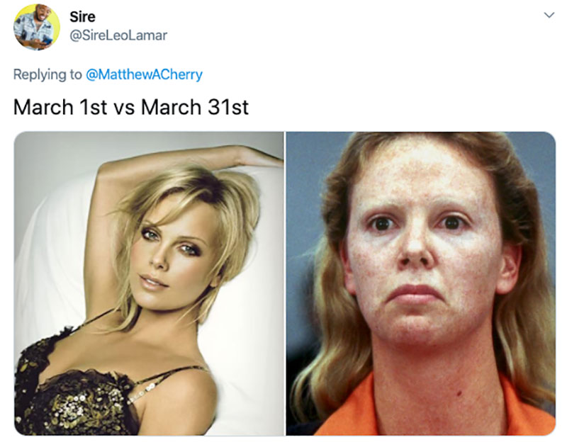"march 1 vs march 31 april 1 meme best of 53 These ""March 1 vs April 1"" Posts Perfectly Capture How Intense the Last Month Was"