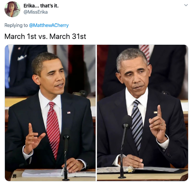 "march 1 vs march 31 april 1 meme best of 57 These ""March 1 vs April 1"" Posts Perfectly Capture How Intense the Last Month Was"