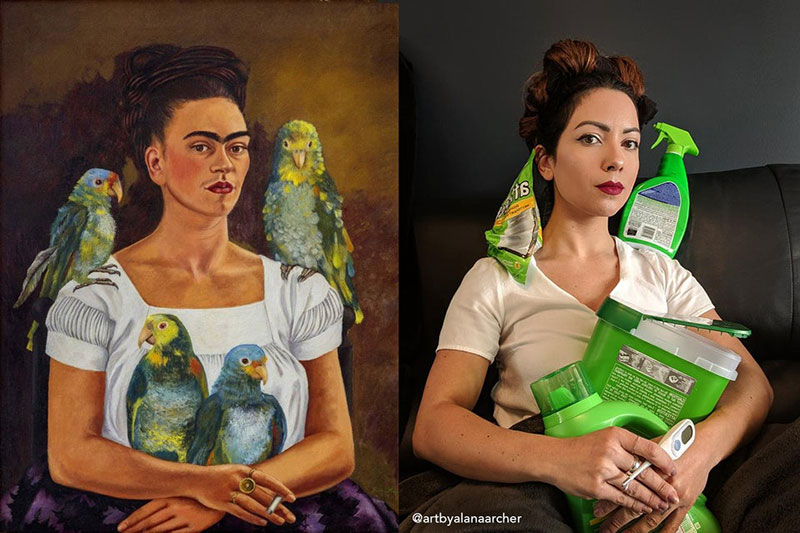 People Stuck at Home are Recreating Famous Paintings and It's ...