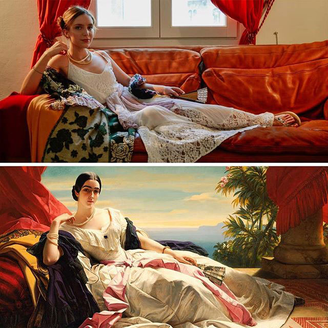 people recreating famous paintings at home getty museum challenge 41 People Stuck at Home are Recreating Famous Paintings and Its Awesome