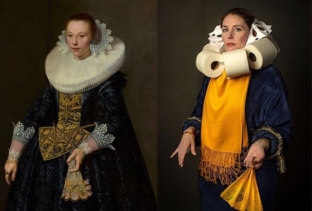people recreating famous paintings at home getty museum challenge 45 People Stuck at Home are Recreating Famous Paintings and Its Awesome