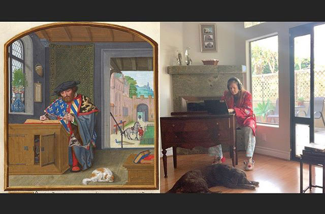 people recreating famous paintings at home getty museum challenge 48 People Stuck at Home are Recreating Famous Paintings and Its Awesome
