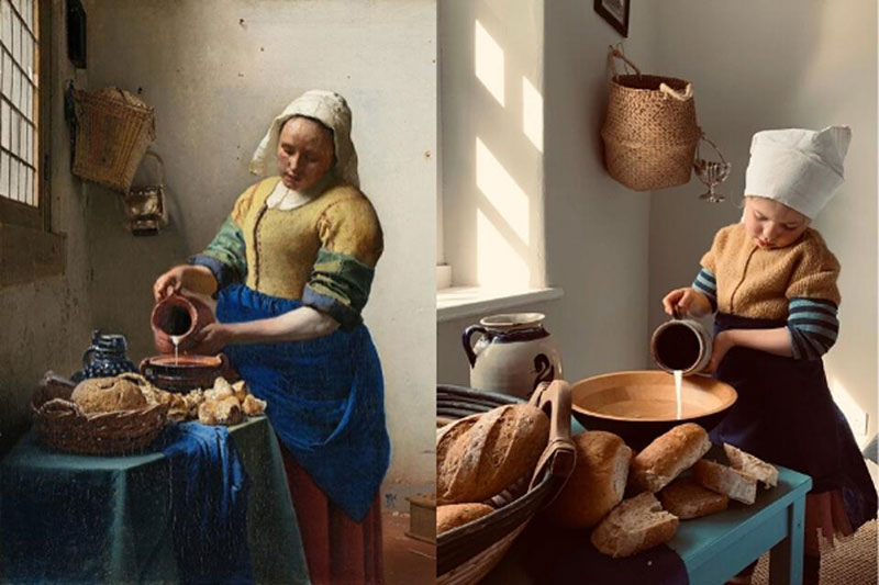 people recreating famous paintings at home getty museum challenge 6 People Stuck at Home are Recreating Famous Paintings and Its Awesome