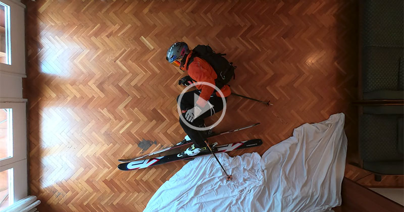 This Guy's Ski Trip Got Cancelled So He Made a Stop Motion Ski Film at Home