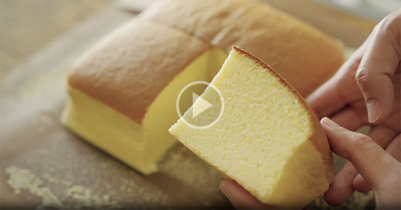 This Dialogue Free Taiwanese Castella Cake Recipe is a Perfect 10 Minute Break