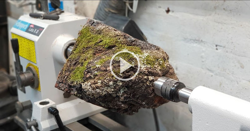 No Dialogue, Just a Guy Woodturning This Into aSpeaker